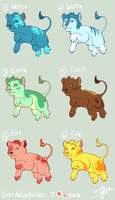 7-Pt Element Lion Adopts CLOSE by robins-egg-crayon