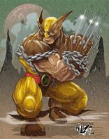 WOLVERINE UNCHAINED colors by CaziTena