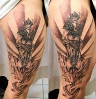 TaT Viking Woman Background by 2Face-Tattoo