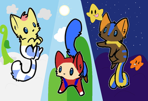 The 3 kitten heros by gameaddict123