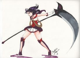 God of Destruction - Sailor Saturn by nitewulf12