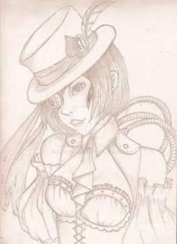 Steampunk girl by Kairashima