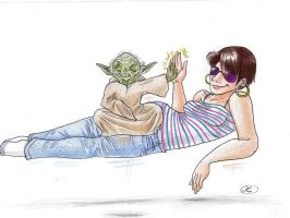 Anna and Yoda by Mistress-D