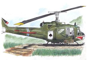 UH-1C Huey Gunship by Schwarze1