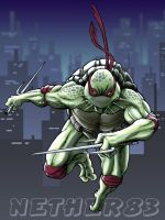 TMNT Raphael Colored by Nether83