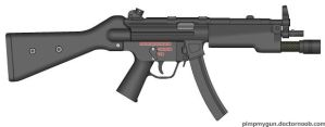 Heckler and Koch MP5A4 by Zero-Z66