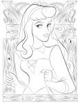 Coloring Pages - Aurora by RCBrock