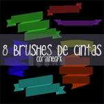 8 brushes de cintas by CoralineGFX