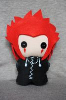 My chibi-Axel plush from KHII by Nati-picciui