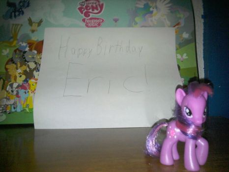 Eric's (late) birthday present. by casserolepony