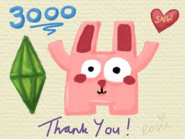3000 Followers by snwgames