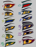Troll Kids Eyes Headcanons COLORED by Rhoda-the-Echidna
