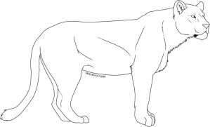 Bulky Lioness Template by CreatureCreatingBabe