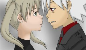 Soul x Maka coloration by ShinyAltaria