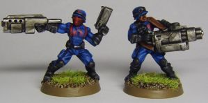 COBRA Officers (Scarface and Lt. Clay Moore) by FraterSINISTER