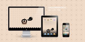 Halloween Boo Wallpaper by cocorie