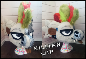 Fursuit WIP - Killian the Bagbean by Kirwick