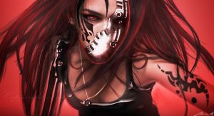 Red Warrior. by hybridgothica