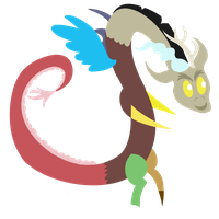 Discord is amused by Dragonfoorm