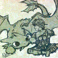 Quickie: HTTYD2 Hiccup and Toothless by neir-2-you