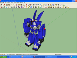 Megas XLR Project Extras: MEGAS in 3D 1 by MarcGo26