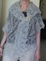 Endless knitted Cardi Shawl 2 by basia-hs