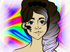 Quick Colors - Brunette over Rainbows by CassidyPeterson