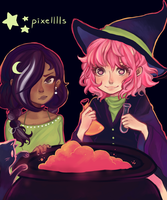 Artblock Witches by PandaHatLara