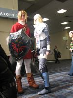 Link and Brawl Sheik by Forcebewitya