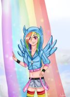 MLP: Brave Rainbow Dash by AngelSakana-96