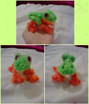 Pipe cleaner frog by SolarGem