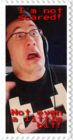 Markiplier - I am not scared! Stamp by SteffieNeko