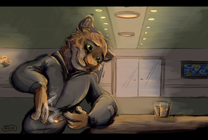 Tigre en el Bar by SuperCrazyHyena