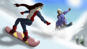 Snowbard Race by ElPanachino