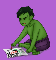 Hulk Baby by IslandMyths