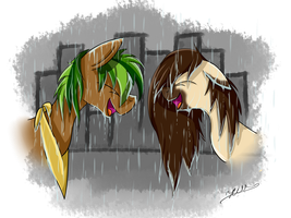 In The Rain by Hilis