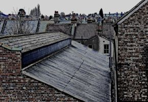 London Roofs - Suicidal Morning in Norbury by margentx