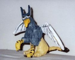 Papier mache gryphon by Rahball