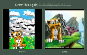 If I were a Smilodon - Draw This Again Contest by ekoi1995