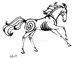 Horse tattoo for tuesdaysmiles by BloodStainedSilk