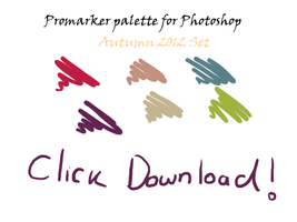 Autumn 2012 Promarkers Palette by L-A-B-R-A-D-O-R