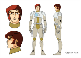 Capitaine Flam - Captain futur by imppao