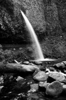 Ponytail Falls BW by futureplug