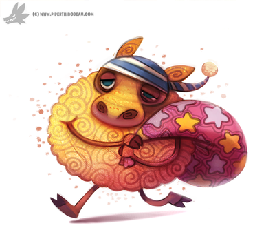 Daily Painting #925. Sandman...sheep by Cryptid-Creations