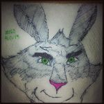 Napkin Art 162 - Bunnymund - Rise of the Guardians by PeterParkerPA