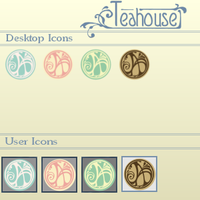 .:Free Teahouse Desktop Icons:. by queen-of-rainbows