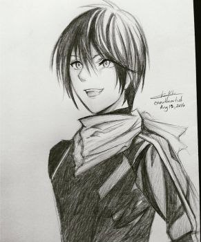 Yato-chan (Noragami) by Cane-the-artist