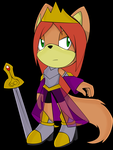 Julie In Sonic And The Black Knight by burningblaze9