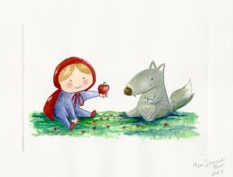 Little Red and Wolf by Vinzul