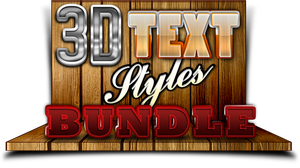 3D Text Styles Bundle by stefusilviu